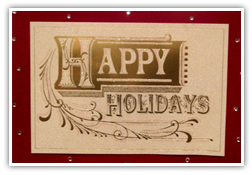 Testimonials Cards: HAPPY HOLIDAYS