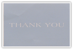 Testimonials Cards: -Thank You-
