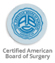 Certified American Board of Surgery. Logo-small