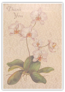 Testimonials Cards: -Thank You-(flowers)