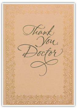 Testimonials Cards: -Thank You Doctor